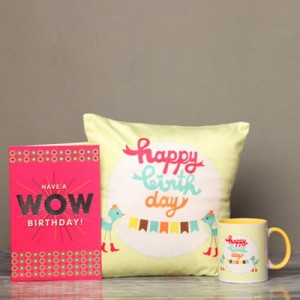 Birthday Printed Cushion, Mug , Greeting card