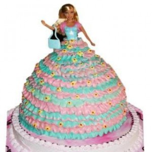 Barbie Doll Cake - 3 kg - Eggless