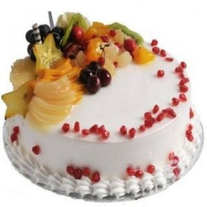 Fresh Fruit Cake - 1/2 kg - Eggless